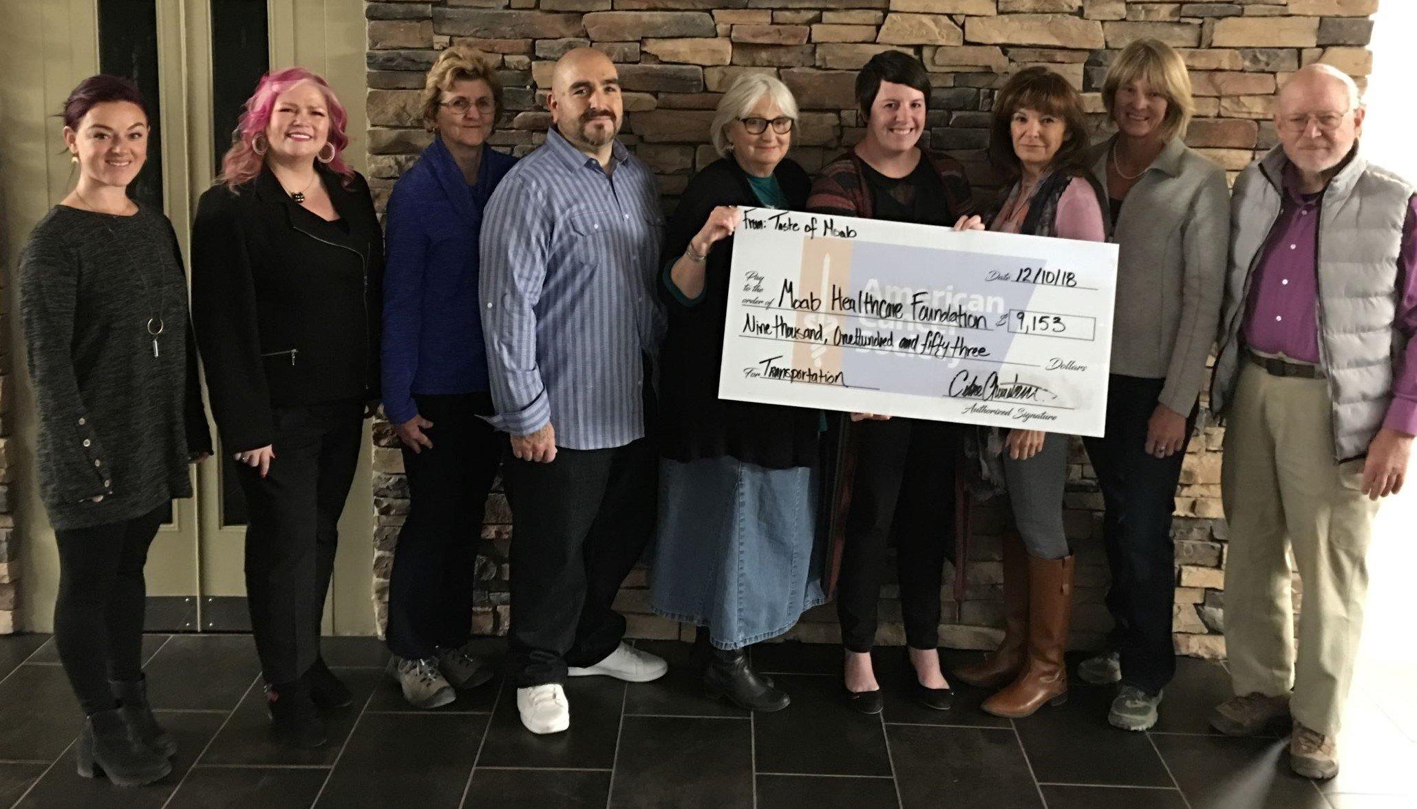 Taste of Moab Donation December 2018 - 3 edited